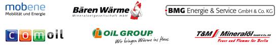 Partner mobene, Bären Wärme, BMG Energie & Service, T&M Mineralöl und COM-OIL Energie + Service